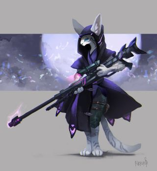 Siame the sniper cat by RikkuTakedo