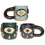 Eye Cup #48 With Three Weeping Eyes by aberrantceramics