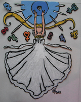 Princess Serenity Stain Glass by LunaMirage