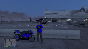 GTA Online Character + Bike by TavenPrower