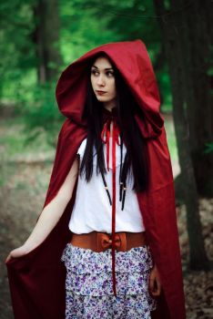 little red riding hood by blackandcolorful