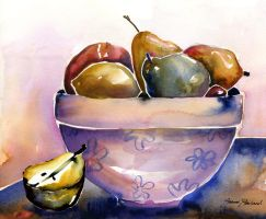 Bowl of Fruit by Josterland