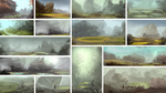 Sulfur Environment Sketches 2 by NickDeSpain