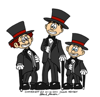 Shane P+A top hats + tails by PAToons