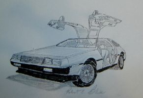 DeLorean Sketch 11 by DeloreanREB