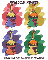 Some Heartless Pin Designs by OEmilyThePenguinO