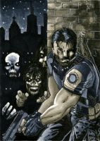 Resident Evil Sketch Card by RichardCox