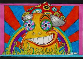 HAPPY SHROOM by Acid-Flo
