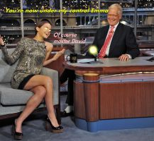 Emma Watson Hypnotized by David Letterman by messiasguardiola