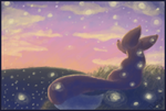 Fireflies and sunsets by DoodleBugsNotebook