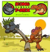 Kong VS T-Rex 003 by BongzBerry