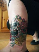 Day of the Dead Skull tattoo by Paigemon