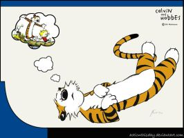 Hobbes: Dream by actionthisday by Calvinandhobbesfans