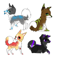Dog adoptables by MochaPupp