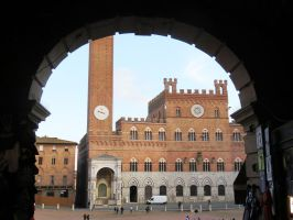 Siena Through an Arch by ShipperTrish