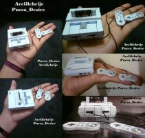 super nintendo papercraft by puccadesire