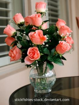 Vase of Roses 1 by Stickfishies-Stock