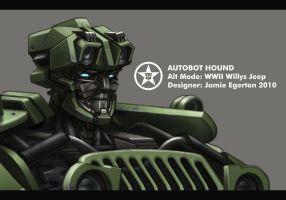 Autobot Hound Head Detail by Jamie-Egerton