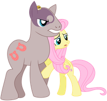 Pony Minsc and Flutterwitch by adcoon