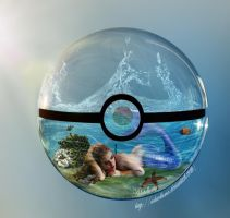 Mermaid in a pokeball by Adutelluma