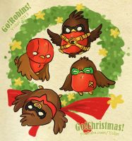Christmas Robins by yolin