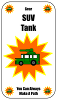 SUV Tank Card For Zombie Run Game by flowofwoe