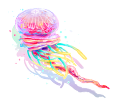 Vine jellyfish by PurpleLemon13