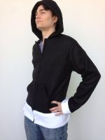 Death the Kid Fleece Cosplay Hoodie - Front by Weeaboo-Warehouse