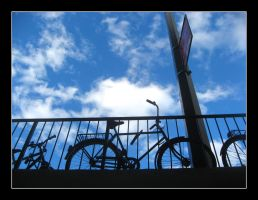 Bikes and Sky by MushroomBrain