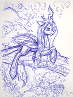 Chrysalis Sketch by KP-ShadowSquirrel