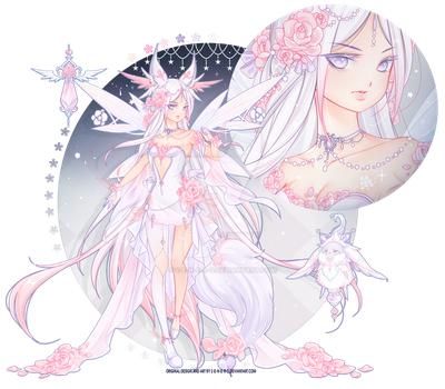 [COMMISSION] Custom WIRA Adoptable: Rose + Romance by Z-E-N-E-R-O