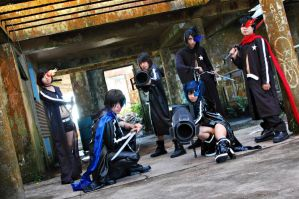 black rock shooter group by amakurareika