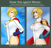 Before And After - Power Girl by Snowman1940