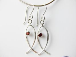 silver pisces earring by irineja