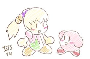 KDL3 style Fumu and Kirby? by IvynaJSpyder