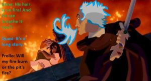What will burn them first, Frollo's fire or pit? by FroShaDar