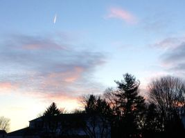 A Shooting Star Before the Sun Sets? by JJ-cat