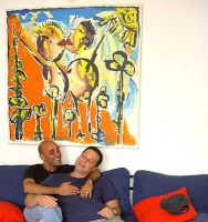 gay couple art collectors near my paintings homo by shharc
