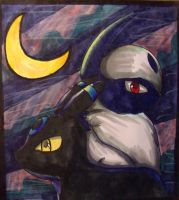 Umbreon and Absol by DrGengar