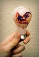 Bird in the Hand On the Bulb by seenew