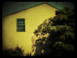 yellow house by DogAngel