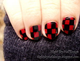 Checkerboard by nightskynaildesign