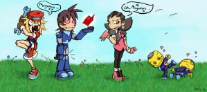 Mega Man in Love by theoryC