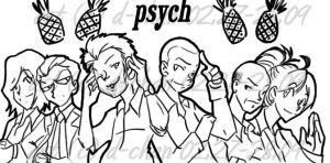 Psych Pineapple Roster by bloodyd-chan