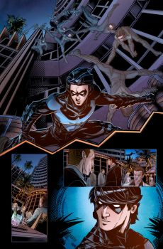 Color Practice Nightwing by E-m2