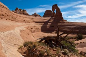 Delicate Arch from the bowl by djohn9