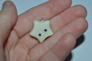 Kawaii Star - Polymer Clay Charm by PiinkKittyy