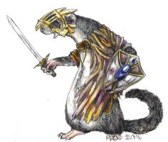 Ferret Warrior by konekonoarashi