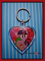 MLP: Spike+Twilight Keychain by ObjectionSoS