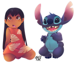 Lilo and stitch (fan art3/10) by phation